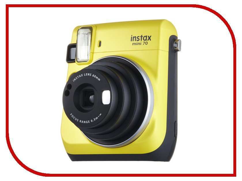 Фотоаппарат Fujifilm 70 Instax Mini Yellow brand new fujifilm instax camera mini 90s black instant mini film camera free shipping