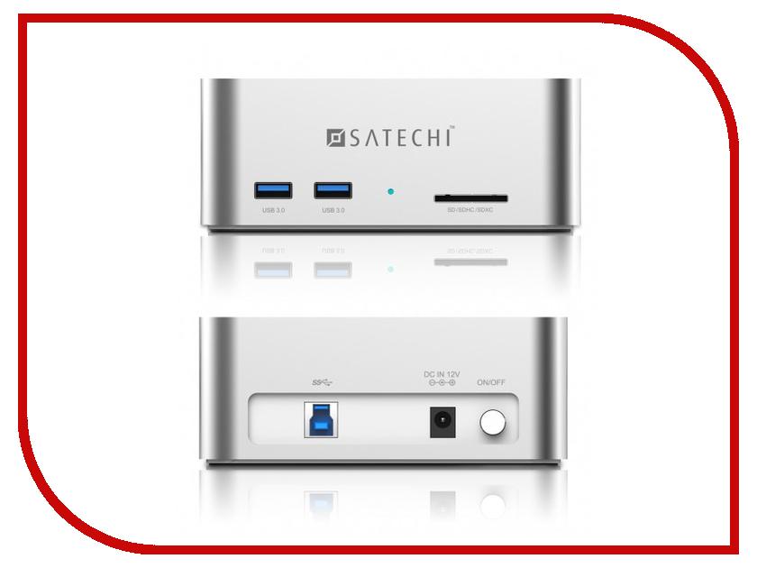 Аксессуар Док-станция для HDD Satechi Aluminum USB 3.0 SATA III HDD / SSD Docking Station B00S717JH6 / ST-U3ADS 2 5 sata usb 3 0 hdd enclosure with pouch grey super speed 5gbps
