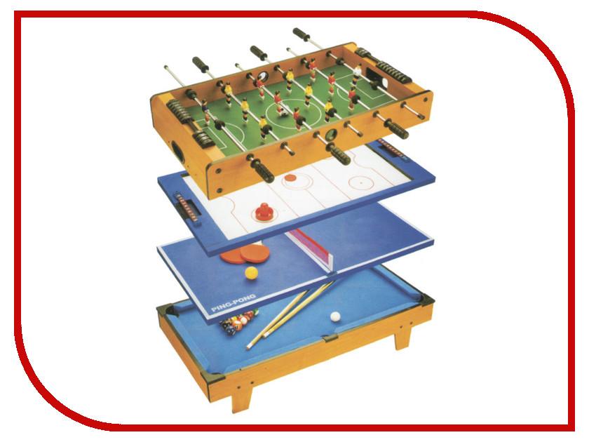 Игровой стол Partida Футбол + Аэрохоккей + Теннис + Бильярд 82х43х24 аэрохоккей partida премиум 74