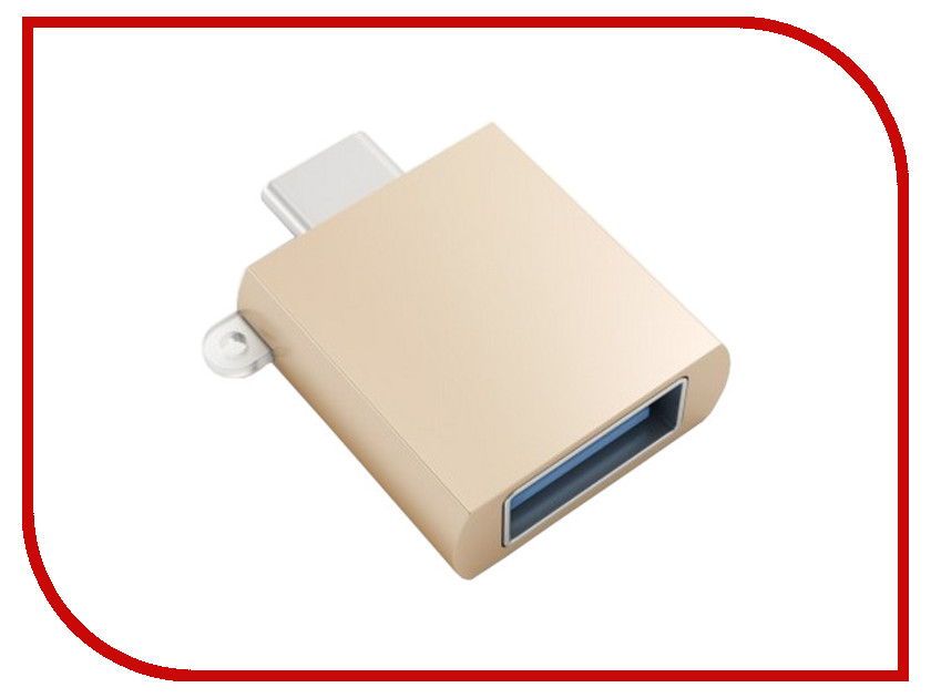 Аксессуар Satechi USB 3.0 Type-C to USB 3.0 Type-A Gold B015YRRY4S<br>