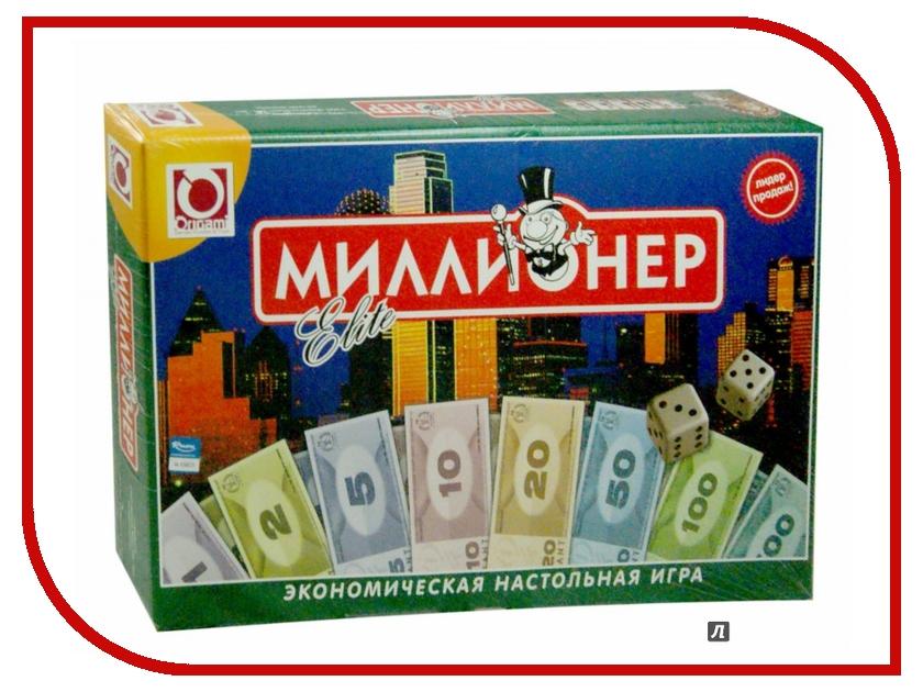 Настольная игра Origami Миллионер-элит 00111 настольная экономическая игра миллионер ин 2225