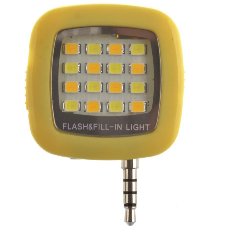Аксессуар SkinBox LED Flash 16 диодов jack 3.5mm Yellow Вспышка