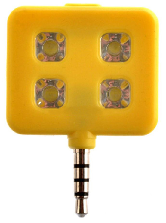 Аксессуар SkinBox LED Flash 4 диода jack 3.5mm Yellow Вспышка