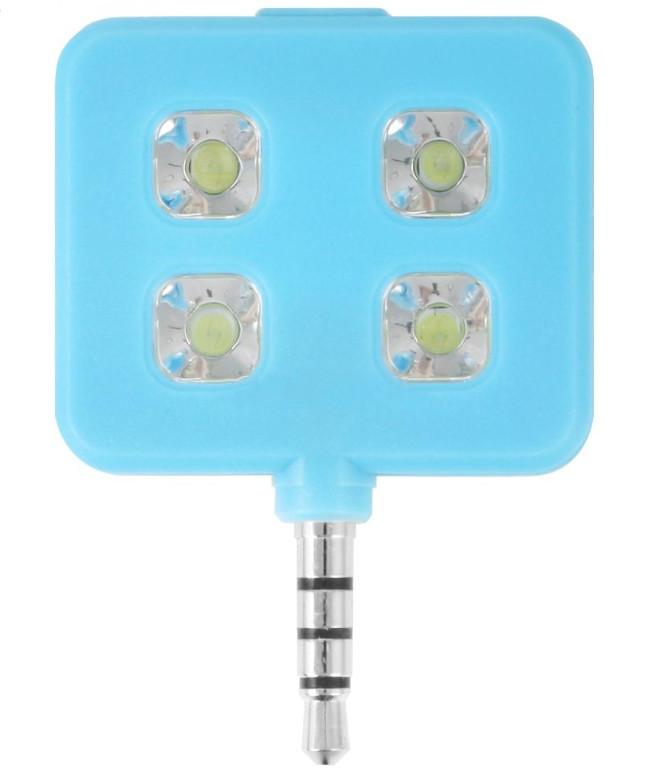 Аксессуар SkinBox LED Flash 4 диода jack 3.5mm Blue Вспышка