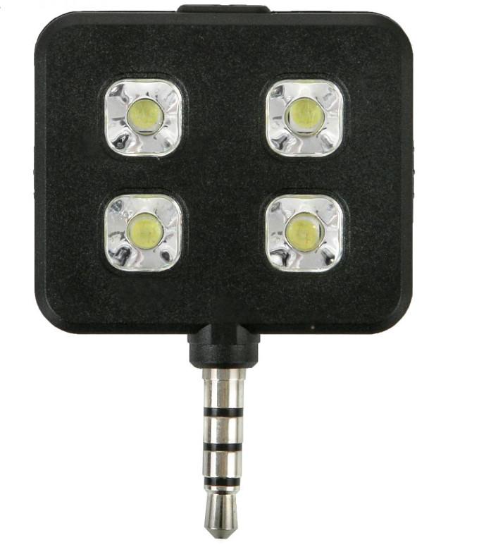 Аксессуар SkinBox LED Flash 4 диода jack 3.5mm Black Вспышка