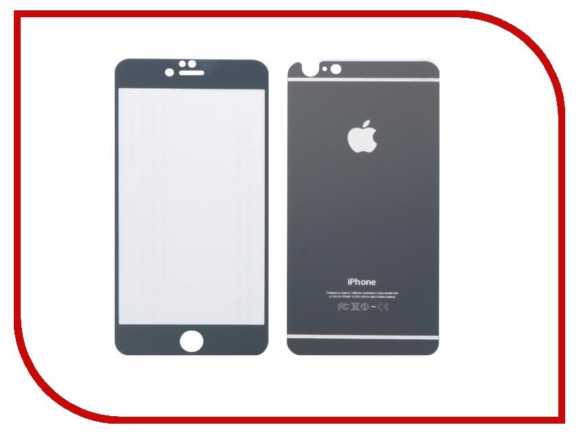 Аксессуар Защитное стекло CaseGuru Mirror Front &amp; Back для APPLE iPhone 6 / 6S Plus Gray 0.33mm Logo<br>