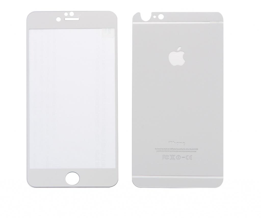 Аксессуар Защитное стекло CaseGuru Mirror Front &amp; Back для APPLE iPhone 6 / 6S Plus Silver 0.33mm Logo<br>