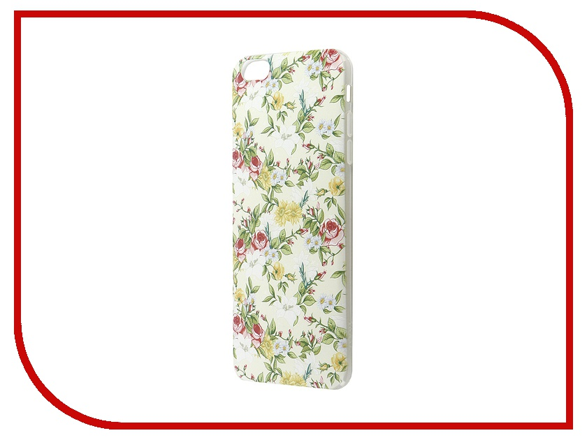 Аксессуар Чехол -накладка Hoco Super Star Series Painted для APPLE iPhone 6 / 6S Plus Rich Flower<br>