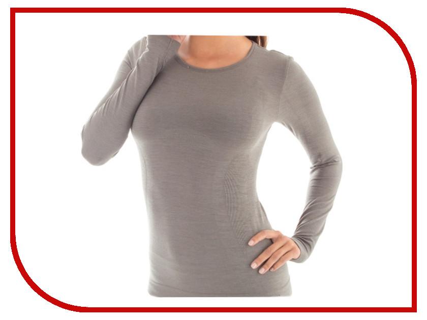 цена  Футболка Brubeck Comfort Wool L Grey LS12150 женская  онлайн в 2017 году