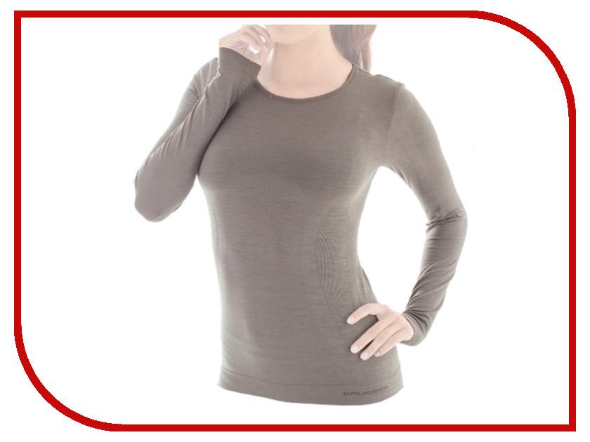 цена  Рубашка Brubeck Comfort Wool M Grey LS12150 женская  онлайн в 2017 году