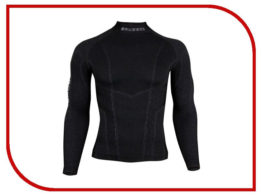 цена Рубашка Brubeck Wool Merino L Black LS10510 / LS11920 мужская онлайн в 2017 году