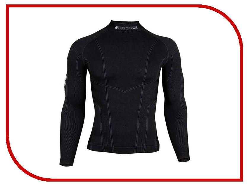 цена  Футболка Brubeck Wool Merino XXL Black LS10510 / LS11920 мужская  онлайн в 2017 году