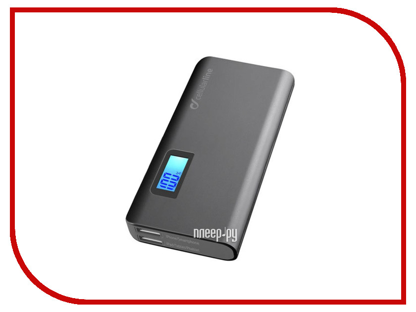 Аккумулятор Cellular Line FREEPMULTI10000K 10000 mAh Black<br>