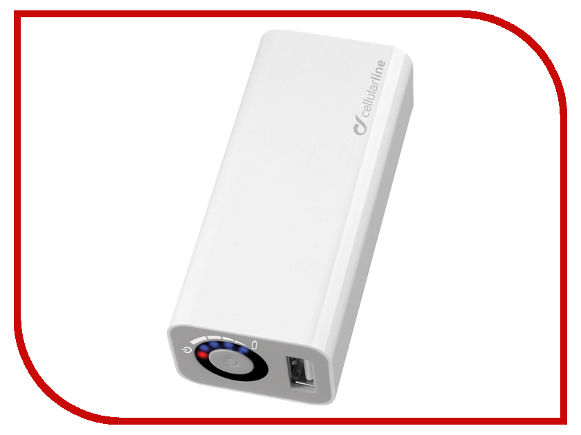 Аккумулятор Cellular Line 3000 mAh White POCKETCHG3000<br>