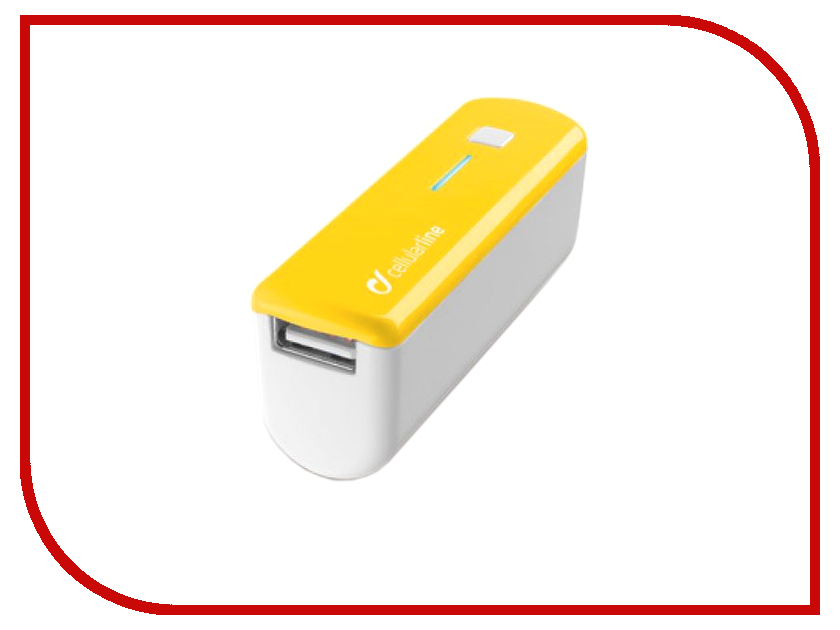 Аккумулятор Cellular Line 2200 mAh Yellow POCKETCHGSMARTY