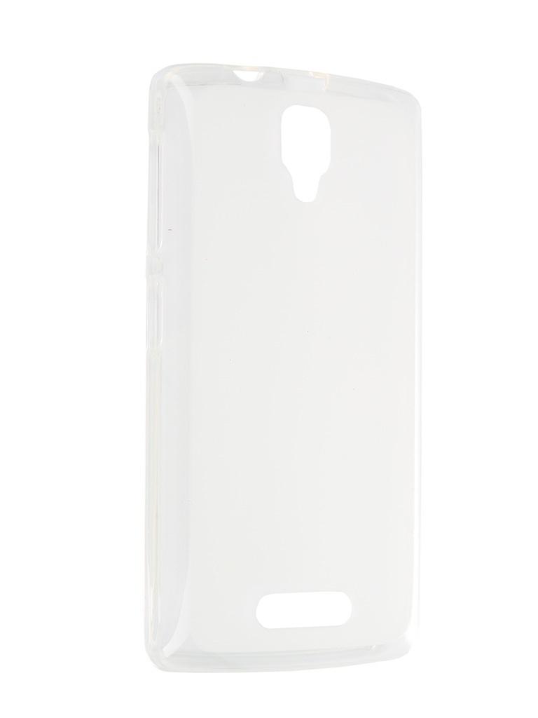 Аксессуар Чехол-накладка Lenovo A1000 SkinBox Sheild Silicone Transparent P-S-LA1000-005<br>