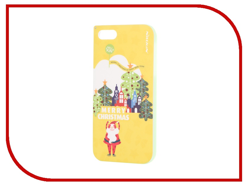 Аксессуар Чехол-накладка SkinBox для iPhone 5 / 5S / SE Yellow T-N-Iphone5S-002<br>