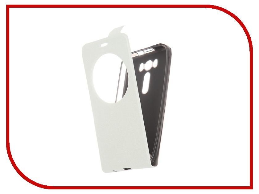 Аксессуар Чехол-флип ASUS ZenFone Laser 2 ZE500KL / ZE500KG Slim AW SkinBox White T-F-AZ500KL-001<br>