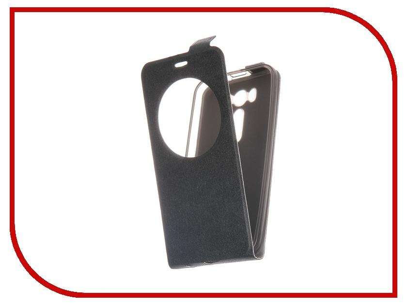 Аксессуар Чехол-флип ASUS ZenFone Laser 2 ZE500KL / ZE500KG Slim AW SkinBox Black T-F-AZ500KL-001<br>