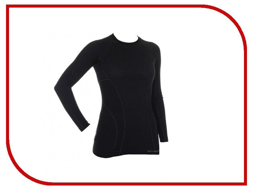 Рубашка Brubeck Active Wool L Black LS12810 / LS13030 женская
