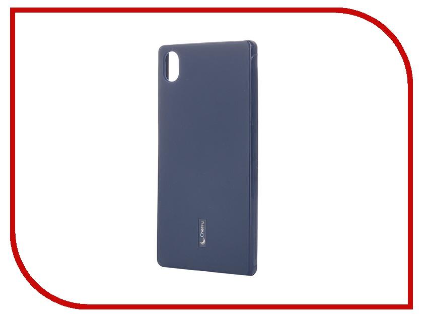 Аксессуар Чехол-накладка Sony Xperia Z5 Cherry Dark Blue 8321