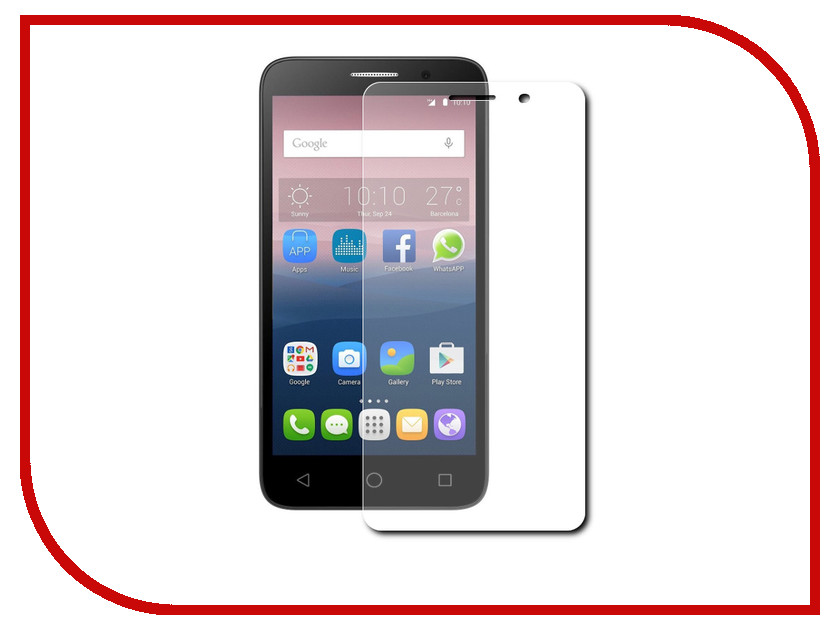 Аксессуар Защитная пленка Alcatel OneTouch 5015 Pop 3 (5) Red Line сотовый телефон alcatel onetouch 5070d pop star soft slate silver gold