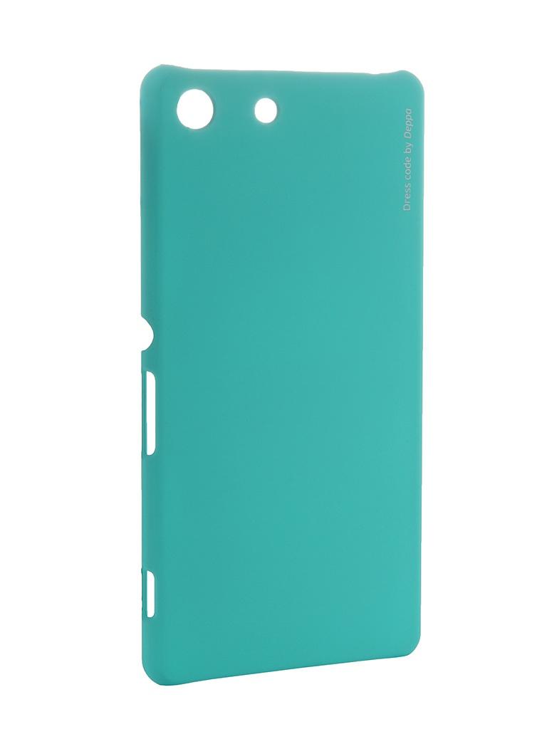 Аксессуар Чехол SonyXperiaM5 Deppa Air Case + защитная пленка Mint 83206<br>