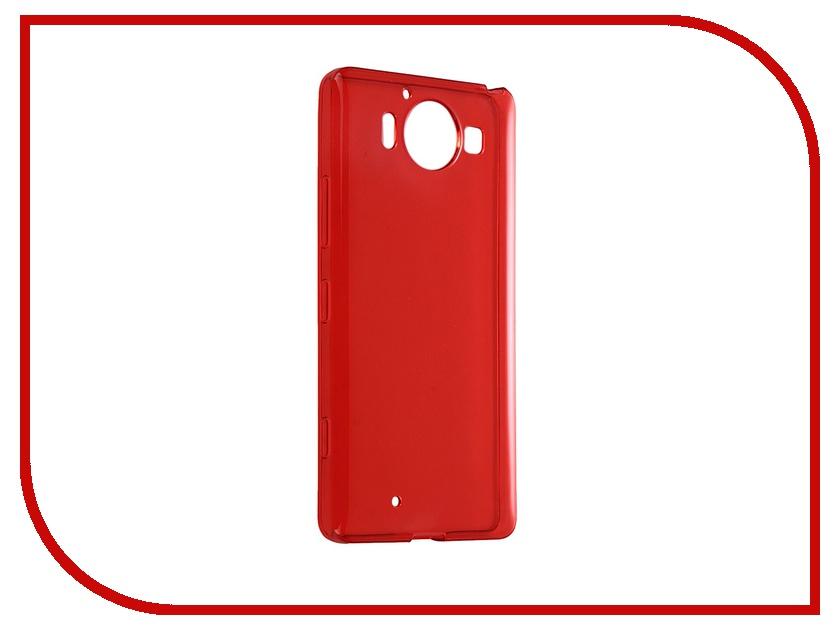 Аксессуар Чехол-накладка Microsoft Lumia 950 iBox Crystal Red<br>
