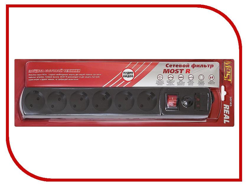 Сетевой фильтр Most R 6 Sockets 5m Black 578420<br>