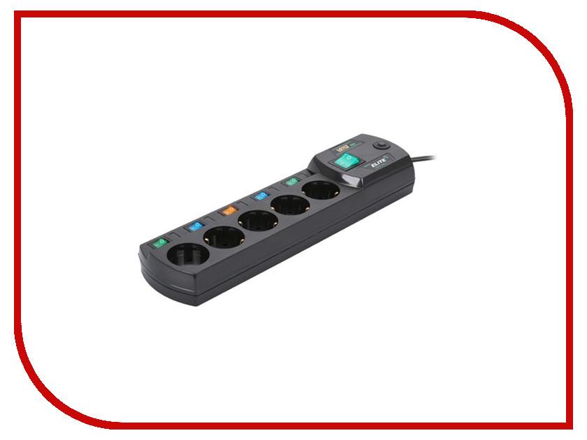 Сетевой фильтр Most ERG 5 Sockets 2m Black сетевой фильтр most rg 6 sockets 2m black