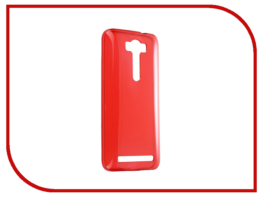 Аксессуар Чехол-накладка ASUS Zenfone 2 Lazer ZE500KL iBox Crystal Red аксессуар чехол накладка asus zenfone c zc451cg cherry black 8270