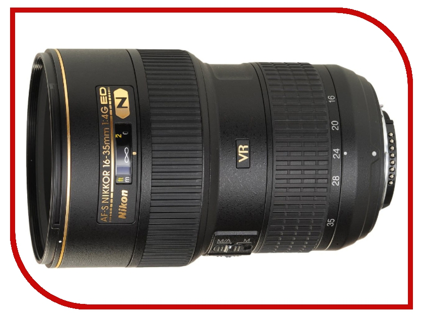 Объектив Nikon Nikkor AF-S 16-35 mm F/4 G ED VR nikon nikon af s nikkor 28mm f 1 8g фиксированный фокус широкоугольный объектив
