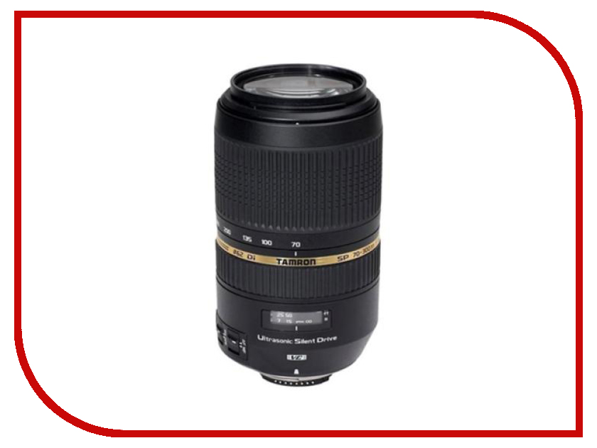 Объектив Tamron Nikon AF 70-300mm F/4-5.6 SP Di VC USD объектив sigma af 19 mm f 2 8 dn art for micro four thirds black