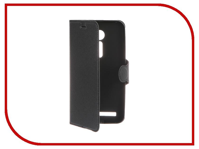 Аксессуар Чехол-книжка ASUS ZenFone 2 ZE500CL Red Line Book Type Sleek Black<br>