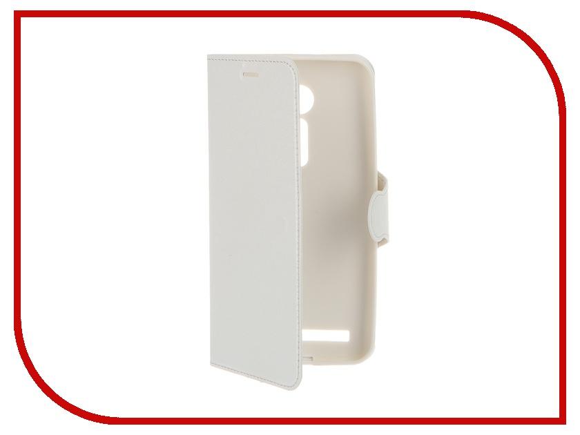 Аксессуар Чехол-книжка ASUS ZenFone 2 ZE500CL Red Line Book Type Sleek White