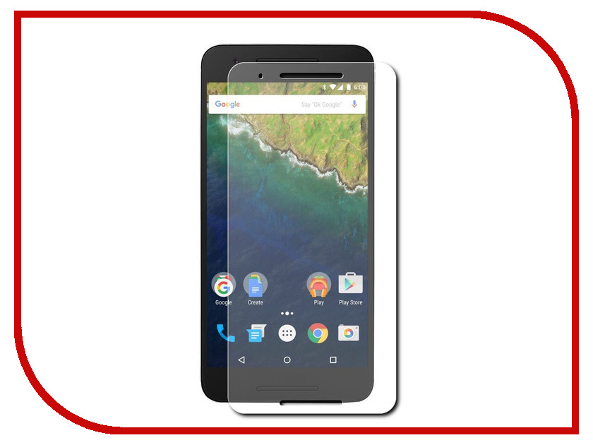 ��������� �������� ������ Red Line Tempered Glass ��� Huawei Nexus 6P