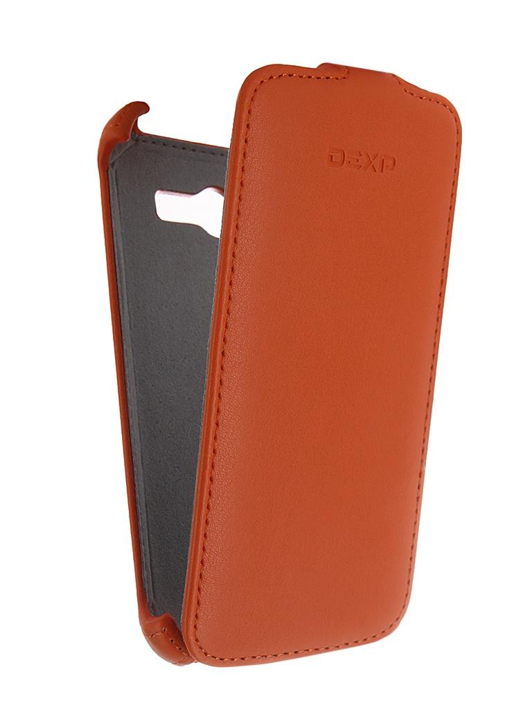 Аксессуар Чехол-флип DEXP Ixion E145 Orange<br>