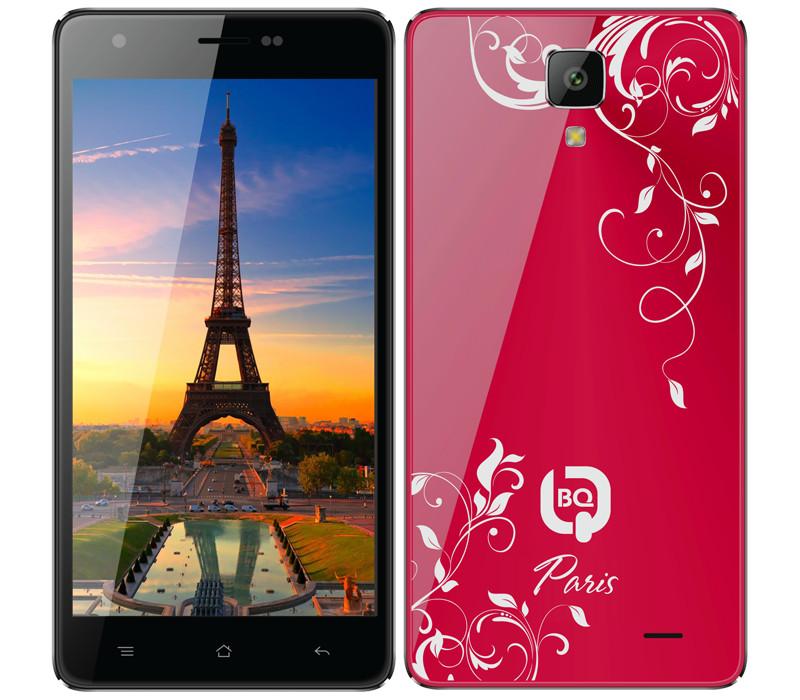 Сотовый телефон BQ BQS-5004 Paris Red<br>
