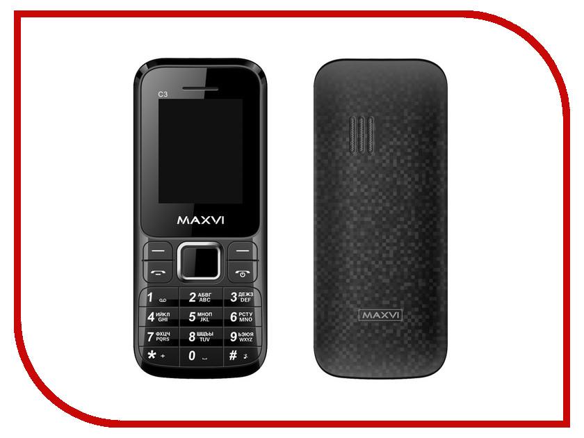 Сотовый телефон Maxvi C3 Black<br>