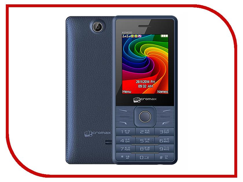 Сотовый телефон Micromax X2400 Blue<br>