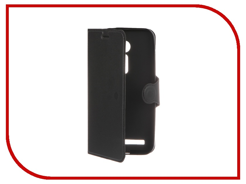 Аксессуар Чехол-книжка Red Line for ASUS ZenFone 2 ZE500CL Book Type Laser Texture Black<br>