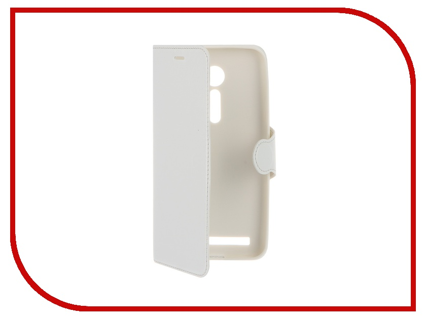 Аксессуар Чехол-книжка Red Line for ASUS ZenFone 2 ZE500CL Book Type Laser Texture White