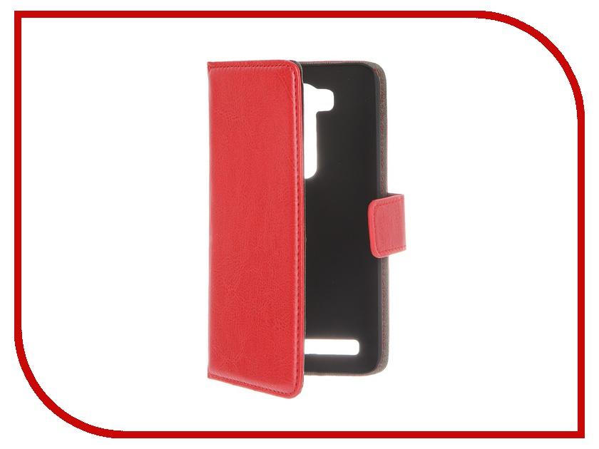 Аксессуар Чехол-книжка ASUS ZenFone 2 Lazer ZE500KL Red Line Business Red<br>