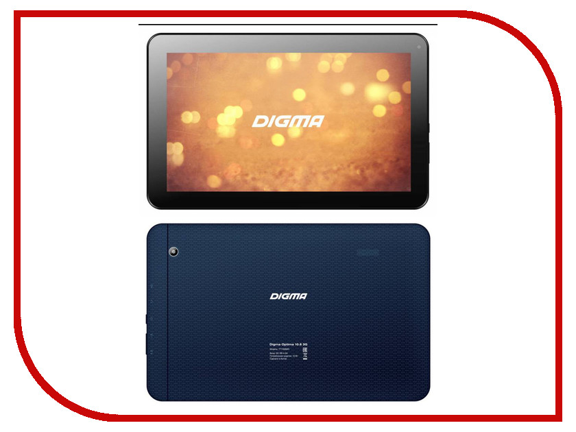 Планшет Digma Optima 10.6 3G Dark Blue TT1006MG MediaTek MT8321 1.3 GHz/1024Mb/8Gb/GPS/3G/Wi-Fi/Bluetooth/Cam/10.1/1024x600/Android 319353<br>
