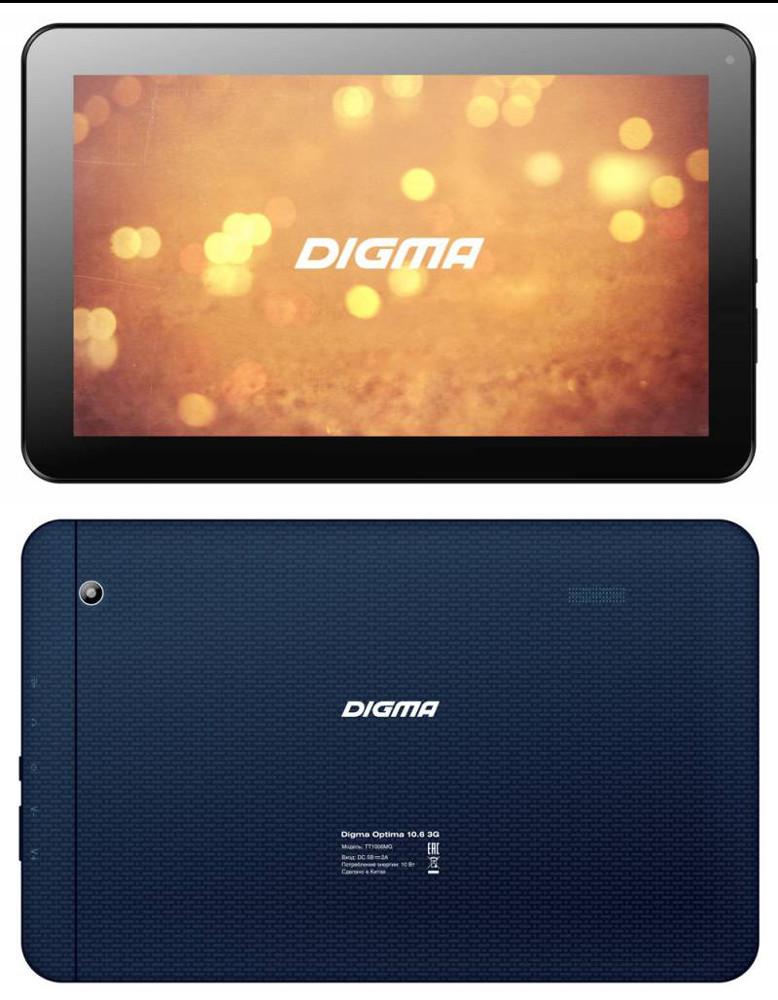 Планшет Digma Optima 10.6 3G Dark Blue TT1006MG 319353 MediaTek MT8321 1.3 GHz/1024Mb/8Gb/GPS/3G/Wi-Fi/Bluetooth/Cam/10.1/1024x600/Android<br>