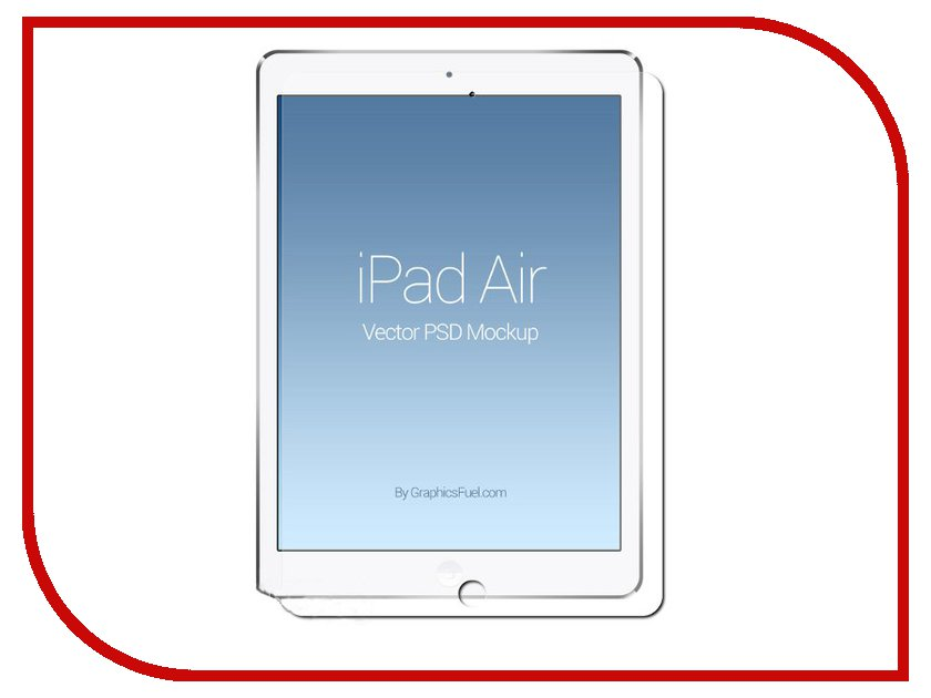 ��������� �������� ������ iPad Air / Air 2 Red Line Tempered Glass