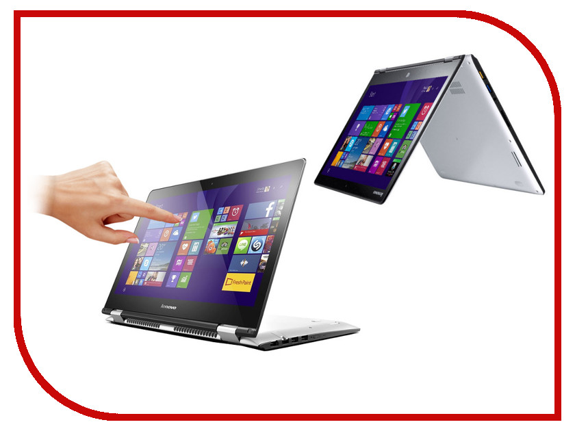 Ноутбук Lenovo IdeaPad Yoga 500-14ISK 80R500BNRK (Intel Core i7-6500U 2.5 GHz/4096Mb/1000Gb + 8Gb SSD/No ODD/Intel HD Graphics/Wi-Fi/Cam/14.0/1920x1080/Touchscreen/Windows 10 64-bit)<br>