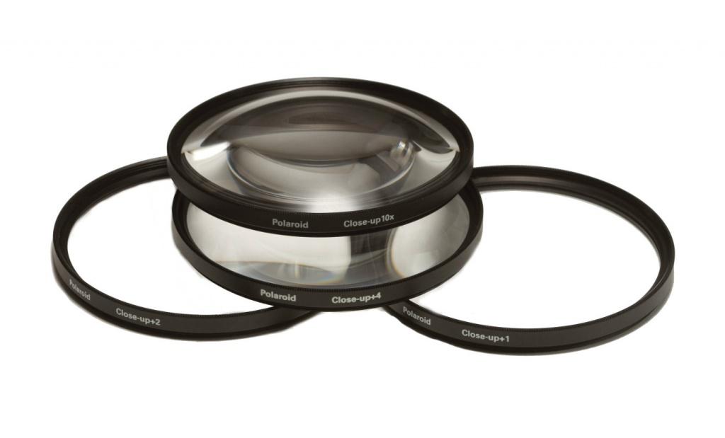Светофильтр Polaroid Close UP Filter Kit +1, +2, +4, +10 - 72mm - набор макролинз PLFILDCCL72<br>