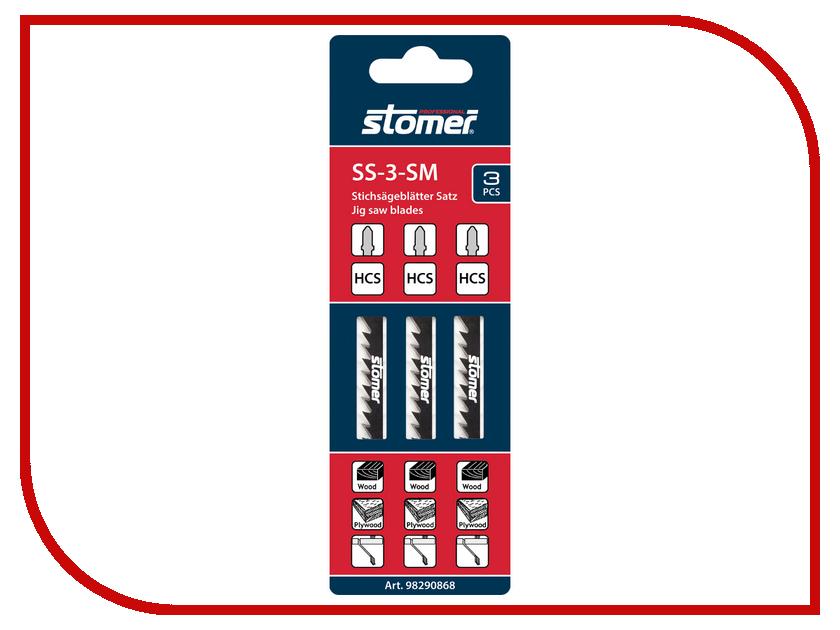 Пилка Stomer SS-3-SM по дереву, 3шт<br>