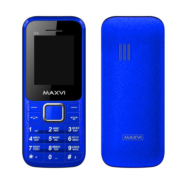 Zakazat.ru: Сотовый телефон Maxvi C3 Blue
